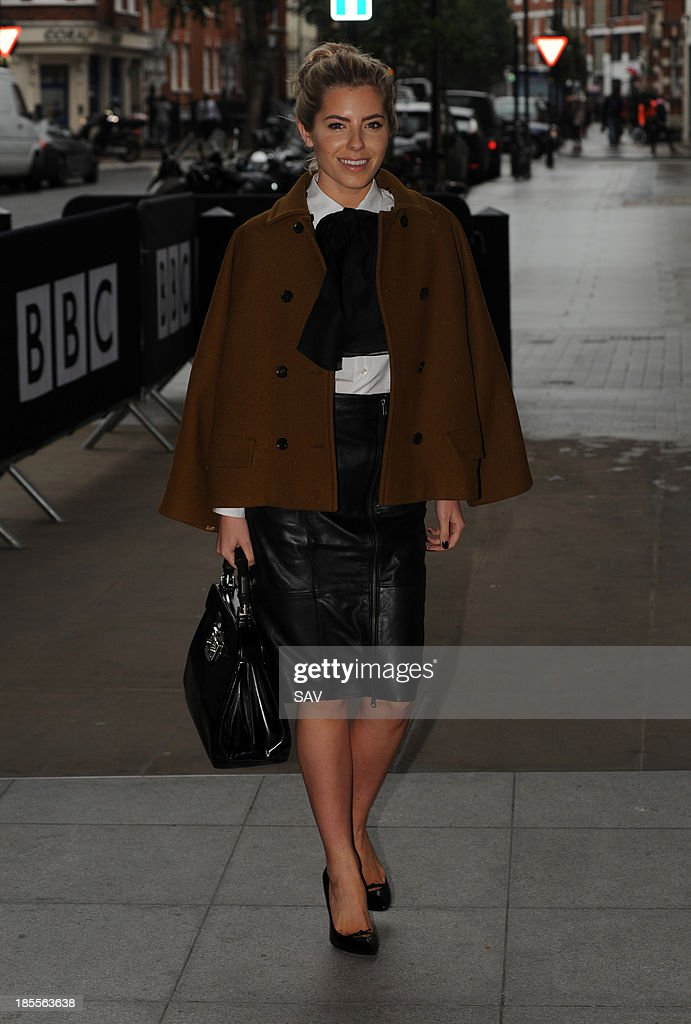 Mollie King pictured at Radio 1 on October 22, 2013 in London, England.