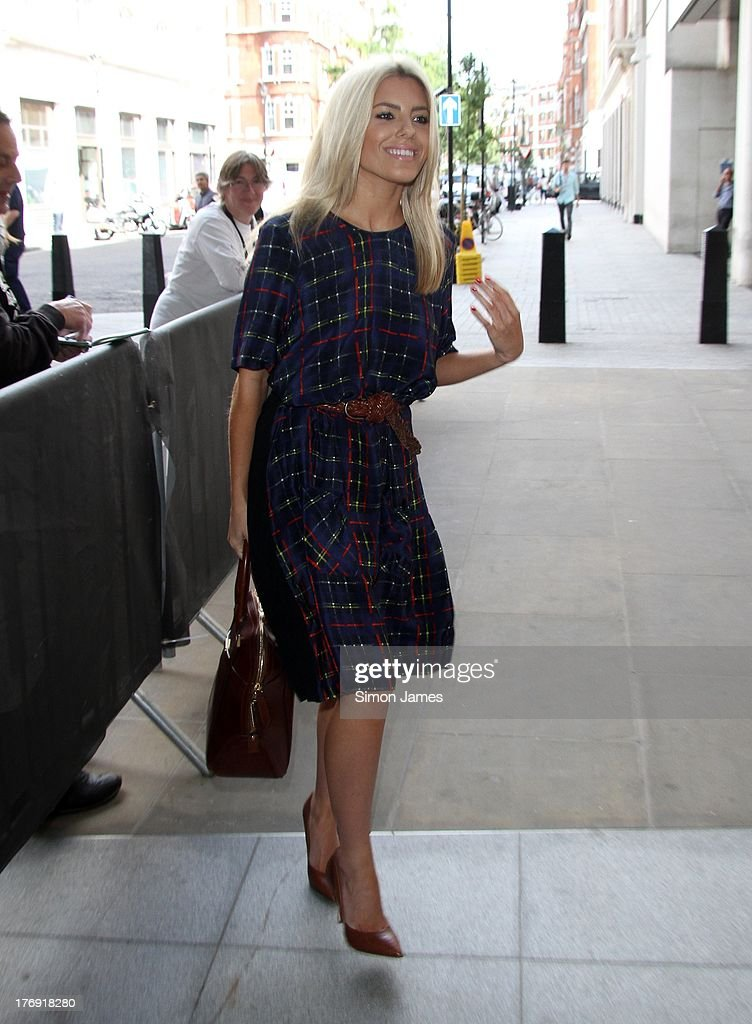 Mollie King sighting at BBC Radio One on August 19, 2013 in London, England.