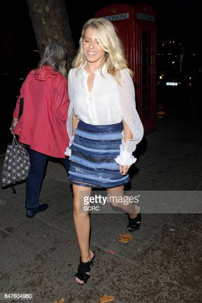Mollie King sighting at the Waldorf Hotel on September 15 2017 in London England