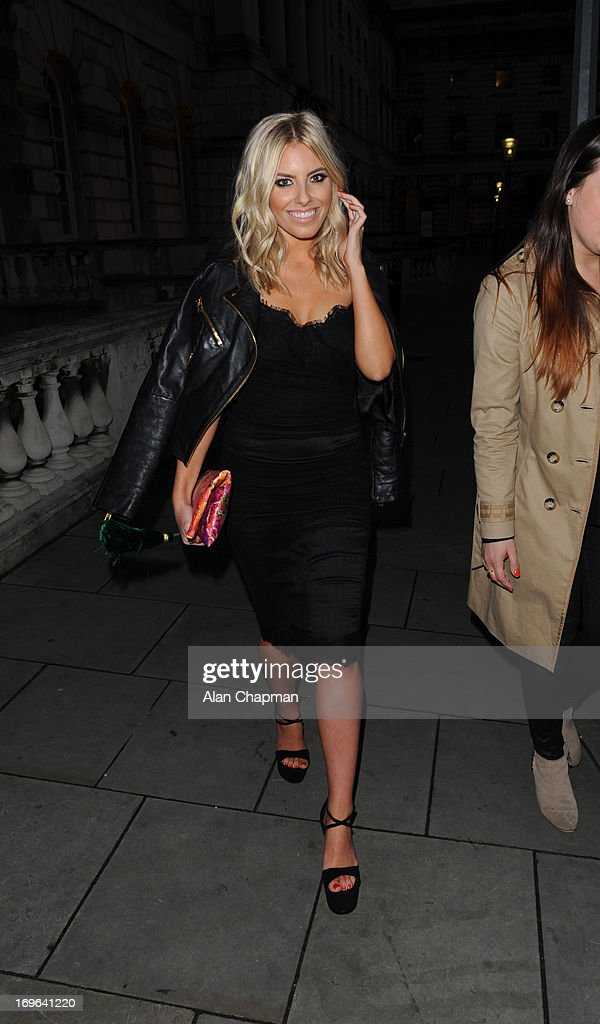 Mollie King sighting leaving the Esquire Summer Party Somerset House The Strand on May 29, 2013 in London, England.