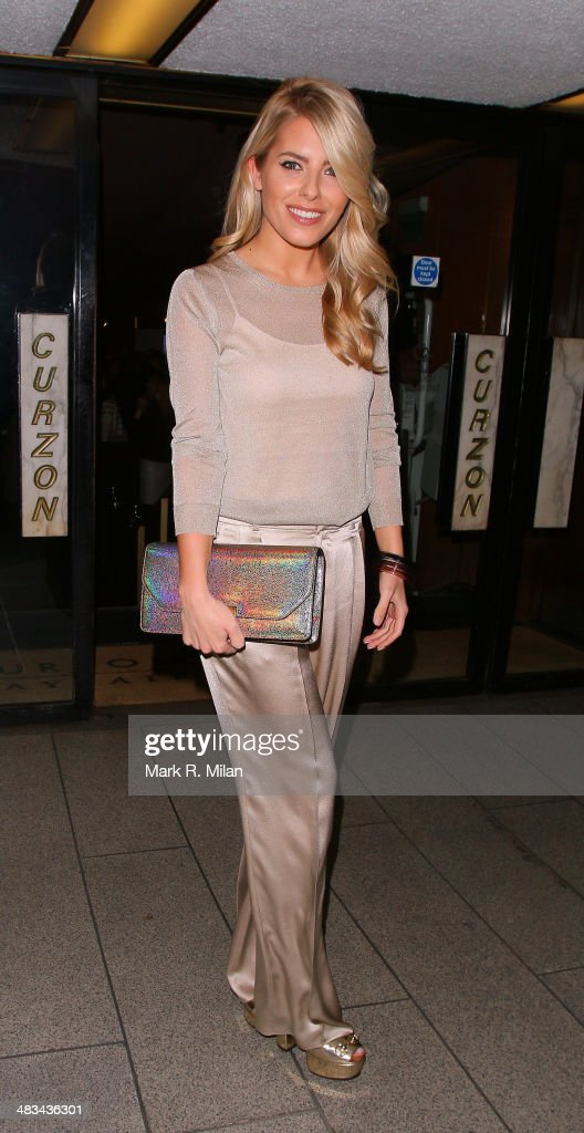 Mollie King the Curzon Mayfair cinema on April 8 2014 in London England