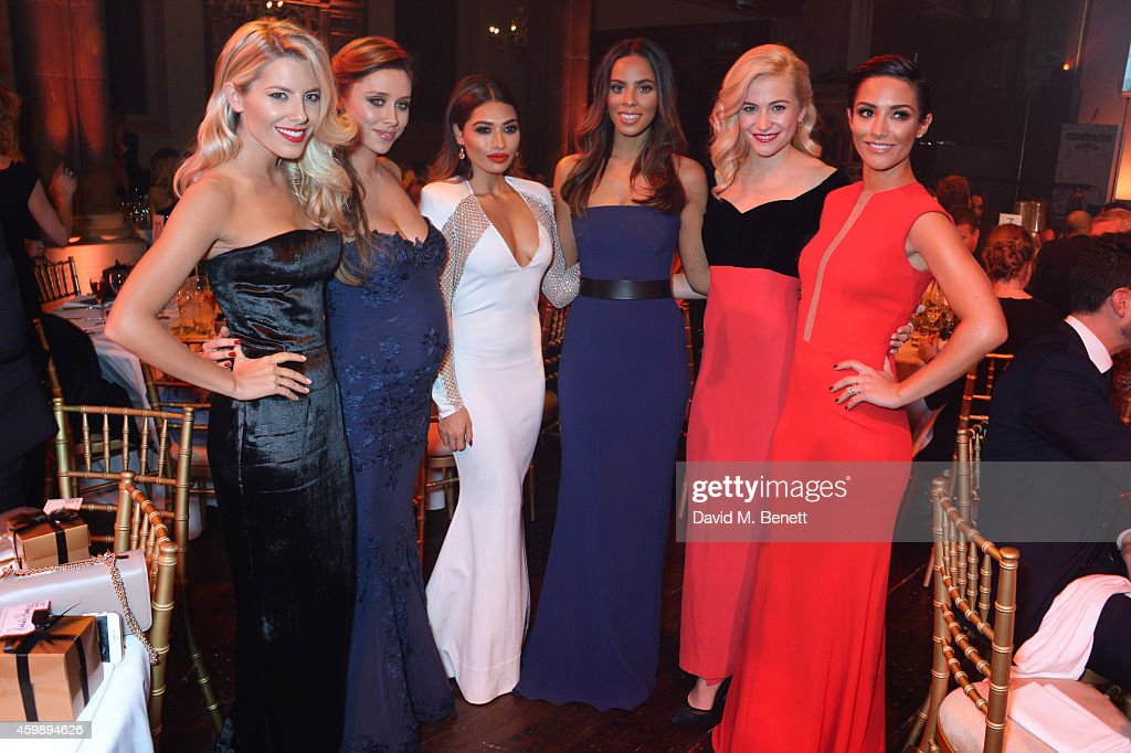 Mollie King Una Foden Vanessa White Rochelle Humes Pixie Lott and Frankie Bridge attend the Cosmopolitan Ultimate Women of the Year Awards at One...