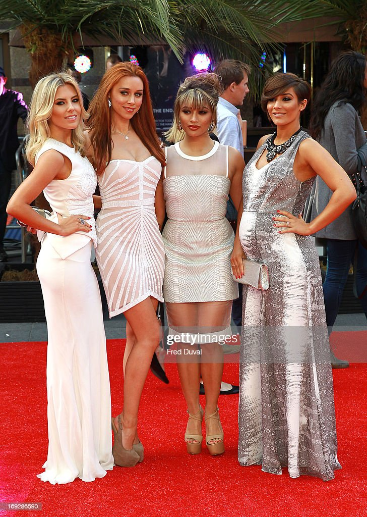 Mollie King, Una Healy, Vanessa White and Frankie Sandford of the Saturdays attend 'The Hangover III' - UK film premiere at The Empire Cinema on May 22, 2013 in London, England.