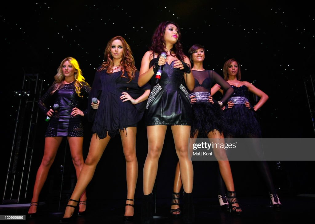 Mollie King Una Healy Vanessa White Frankie Sandford and Rochelle Wiseman of The Saturdays perform at a concert in aid of Rays of Sunshine a charity...