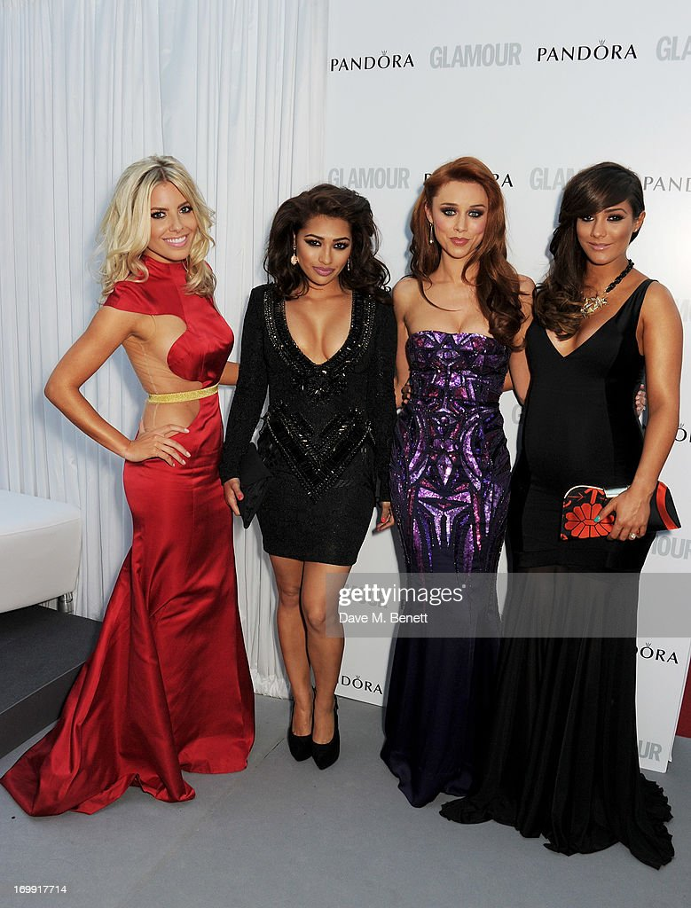 Mollie King Vanessa White Una Healy and Frankie Sandford of The Saturdays arrive at the Glamour Women of the Year Awards in association with Pandora...
