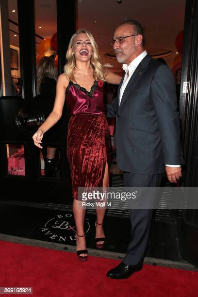 Mollie Kings and Theo Paphitis attend Boux Avenue Christmas campaign launch on November 1 2017 in London England