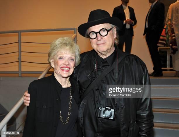 Molly Barnes and artist John Van Hamersveld attend MOCA's Leadership Circle and Members' Opening of 'Carl Andre Sculpture as Place 19582010' and...