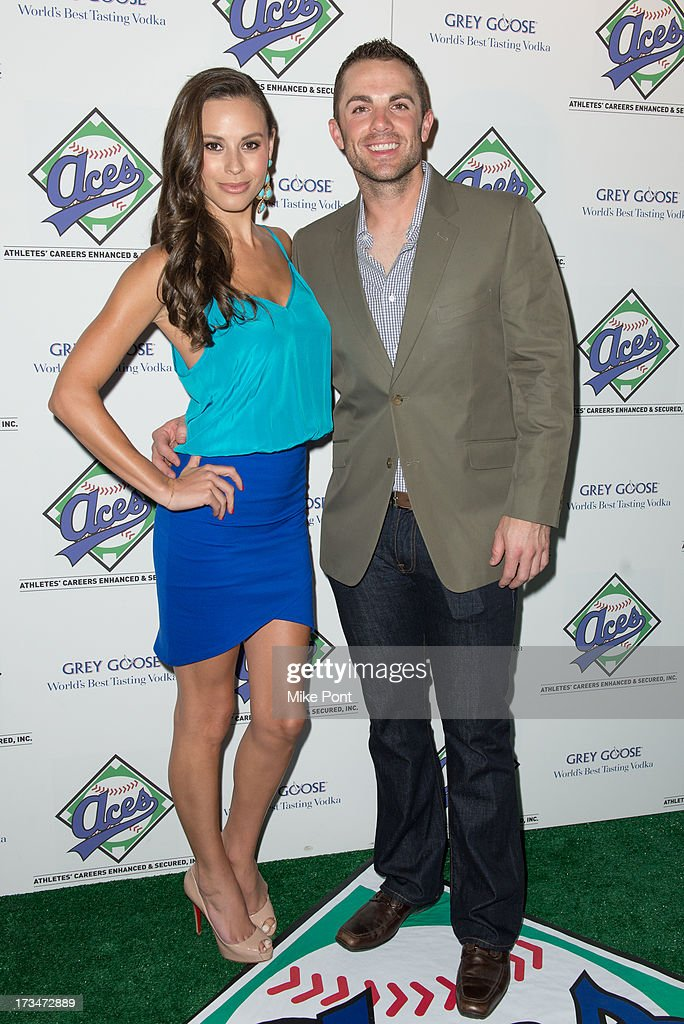 Molly Beers and New York Mets Baseball Player <a gi-track='captionPersonalityLinkClicked' href=/galleries/search?phrase=David+Wright+-+Baseball+Player&family=editorial&specificpeople=209172 ng-click='$event.stopPropagation()'>David Wright</a> attends the ACES Annual All Star Party at Marquee on July 14, 2013 in New York City.