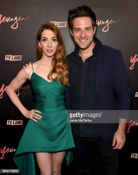Molly Bernard and attend Ben Rappaport the 'Younger' Season Four Premiere Party at Mr Purple on June 27 2017 in New York City on June 27 2017 in New...