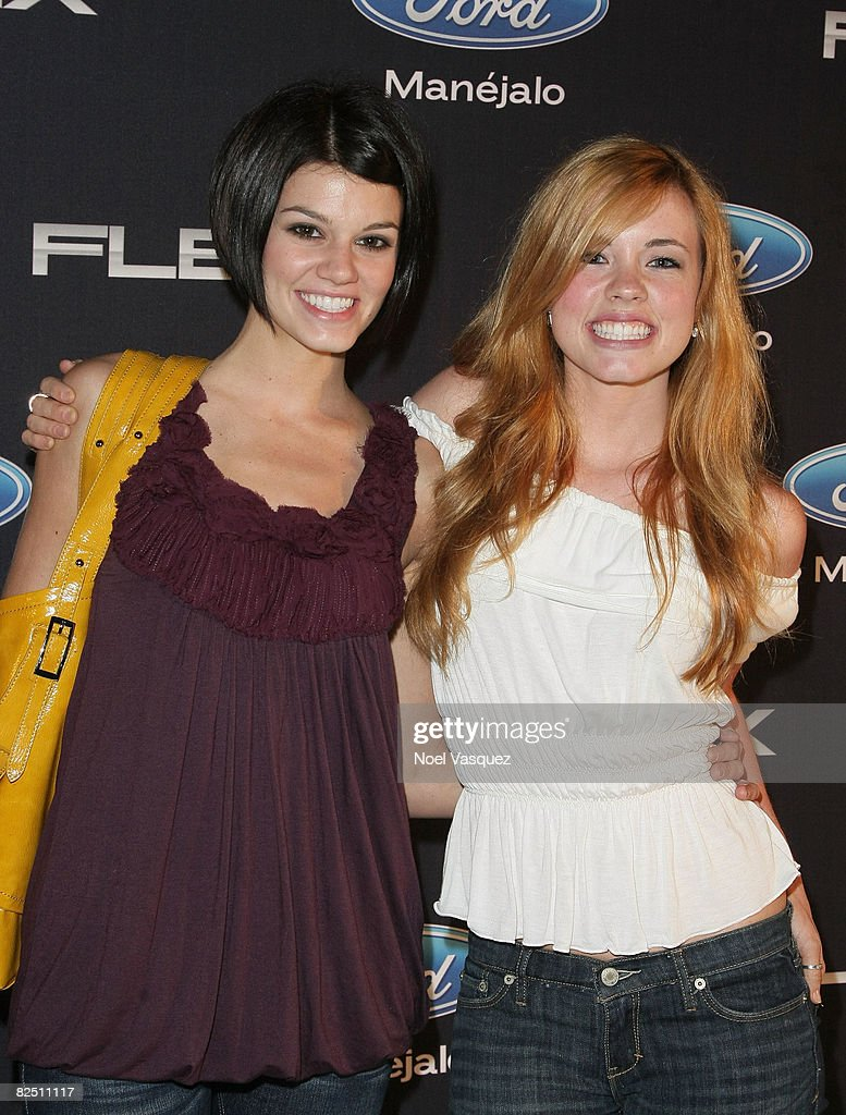 Molly Burnett (R) and Rachel Melvin (L) attend the Ford Flex Gala at the Los Angeles Center Studios on August 21, 2008 in Los Angeles, California.