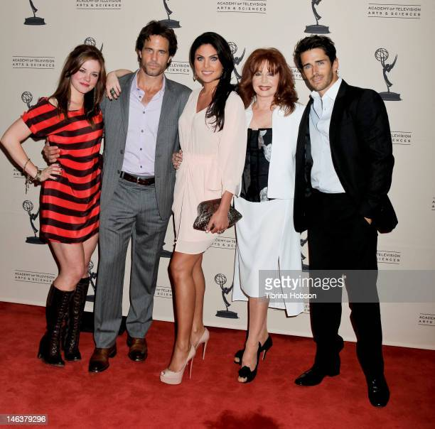 Molly Burnett Shawn Christian Nadia Bjorlin Suzanne Rogers and Brandon Beemer attend the 39th annual daytime Emmy Awards nominees reception at SLS...