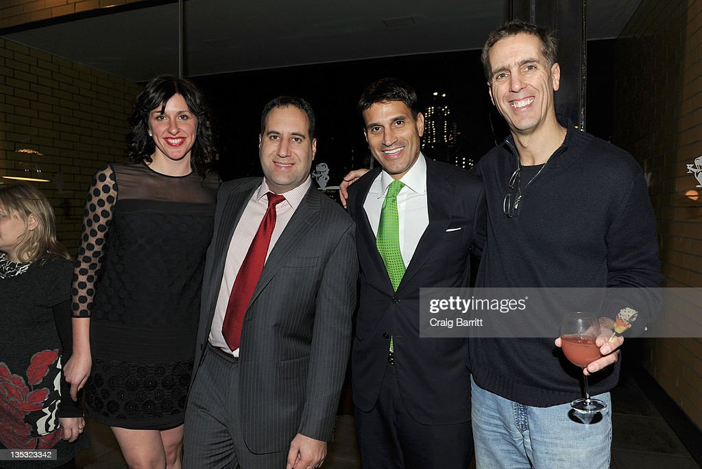 Molly Conners, Kenneth Morris, Steve Condos and James Stern attend the Worldview Entertainment 2011 Holiday Party at William Beaver House on December 8, 2011 in New York City.