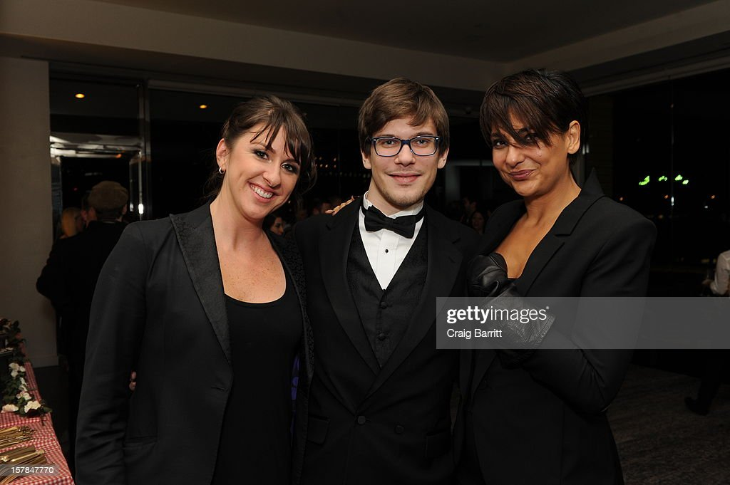 Molly Conners, Matteo Brunetta and Sherin Shaker attend the Worldview Entertainment 2012 Holiday Party at William Beaver House on December 6, 2012 in New York City.