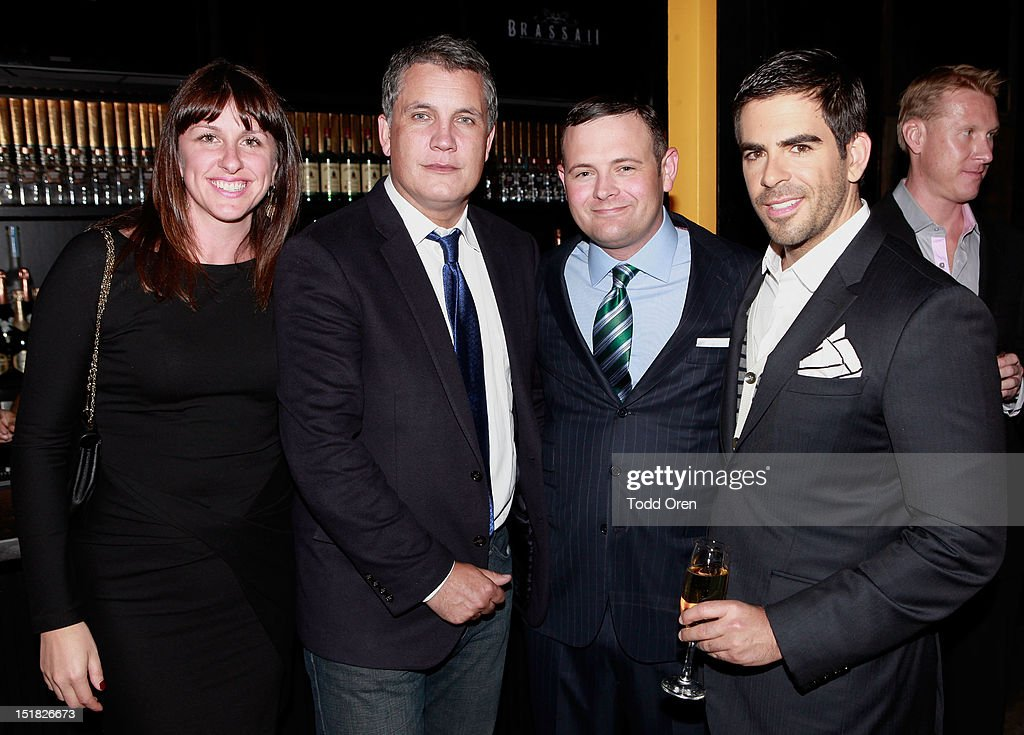 Molly Conners, Stuart Ford, Christopher Woodrow and <a gi-track='captionPersonalityLinkClicked' href=/galleries/search?phrase=Eli+Roth&family=editorial&specificpeople=543948 ng-click='$event.stopPropagation()'>Eli Roth</a> attend the Worldview Entertainment Cocktail Party and Dinner at Brassaii Restaurant and Lounge during the 2012 Toronto International Film Festival at Brassaii on September 11, 2012 in Toronto, Canada.