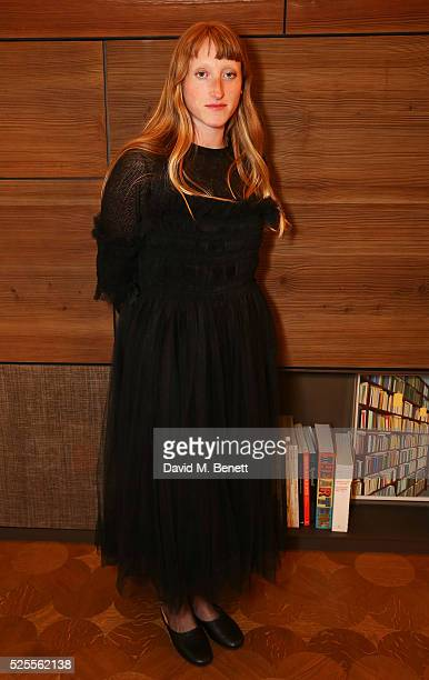 Molly Goddard attends the BFC Fashion Trust x Farfetch cocktail reception on April 28 2016 in London England