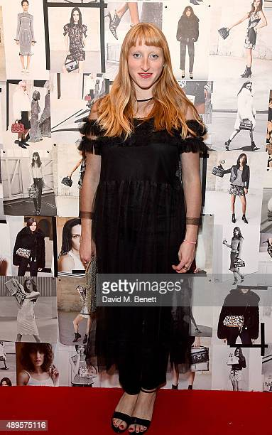 Molly Goddard attends the Louis Vuitton 'SERIES 3' exhibition cocktails during London Fashion Week SS16 on September 22 2015 in London England