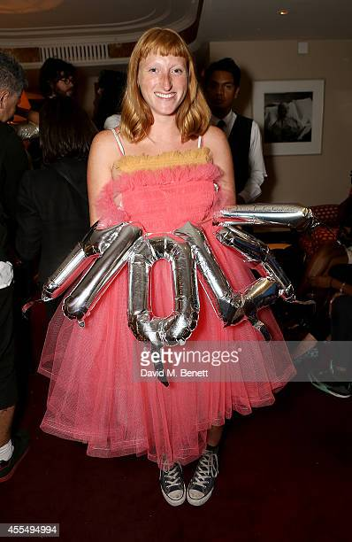 Molly Goddard attends the LOVE magazine party at George on September 15 2014 in London England