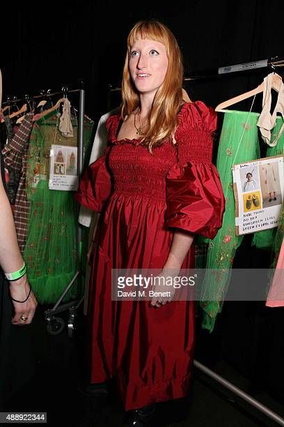 Molly Goddard attends the Molly Goddard presentation during London Fashion Week Spring/Summer 2016 at the BFC Presentation Space on September 18 2015...
