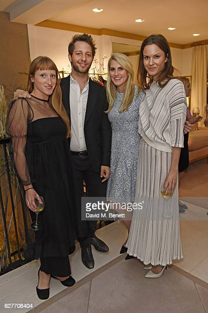 Molly Goddard Derek Blasberg guest and Fran Hickman attend a cocktail party to honour the 2016 Fashion Awards hosted by Natalie Massenet Lauren Santo...