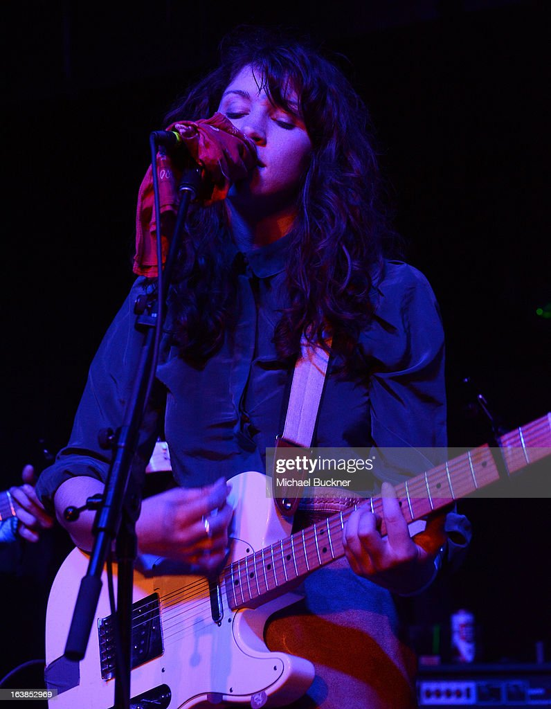 Molly Hamilton of Widowspeak performs at the Captured Tracks Showcase during the 2013 SXSW Music, Film + Interactive Festival at The Parish on March 16, 2013 in Austin, Texas.