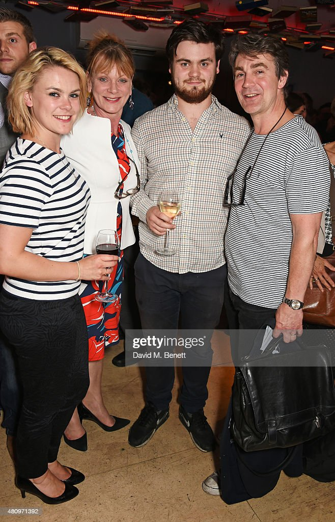 Molly Hanson Samantha Bond Tom Hanson and Alexander Hanson attend the press night performance of 'The Gathered Leaves' at the Park Theatre on July 16...