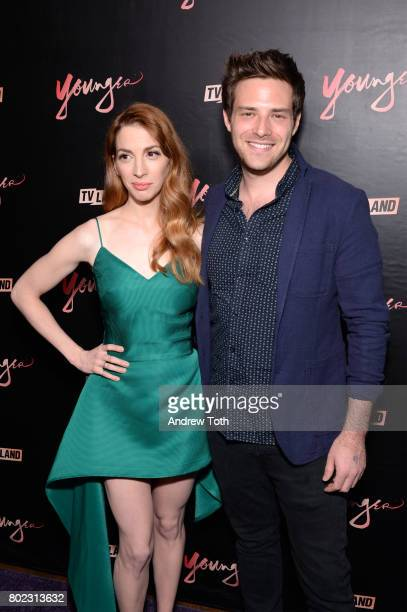Molly Kate Bernard and Ben Rappaport attend the 'Younger' season four premiere party on June 27 2017 in New York City