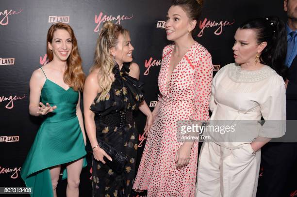 Molly Kate Bernard Hilary Duff Sutton Foster and Debi Mazar attend the 'Younger' season four premiere party on June 27 2017 in New York City