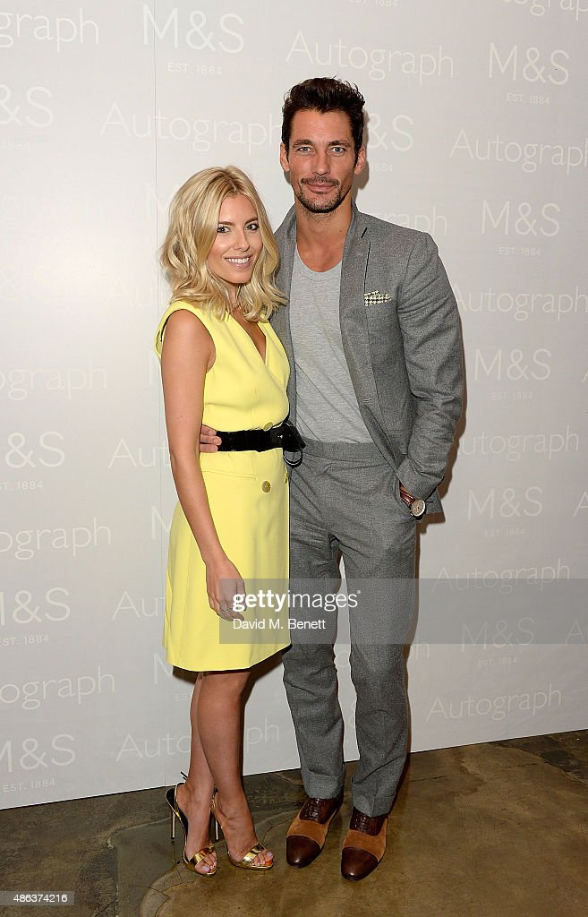 Molly King and David Gandy attend the Marks Spencer party to launch Oliver Cheshire as the Face of Autograph Menswear on September 3 2015 in London...