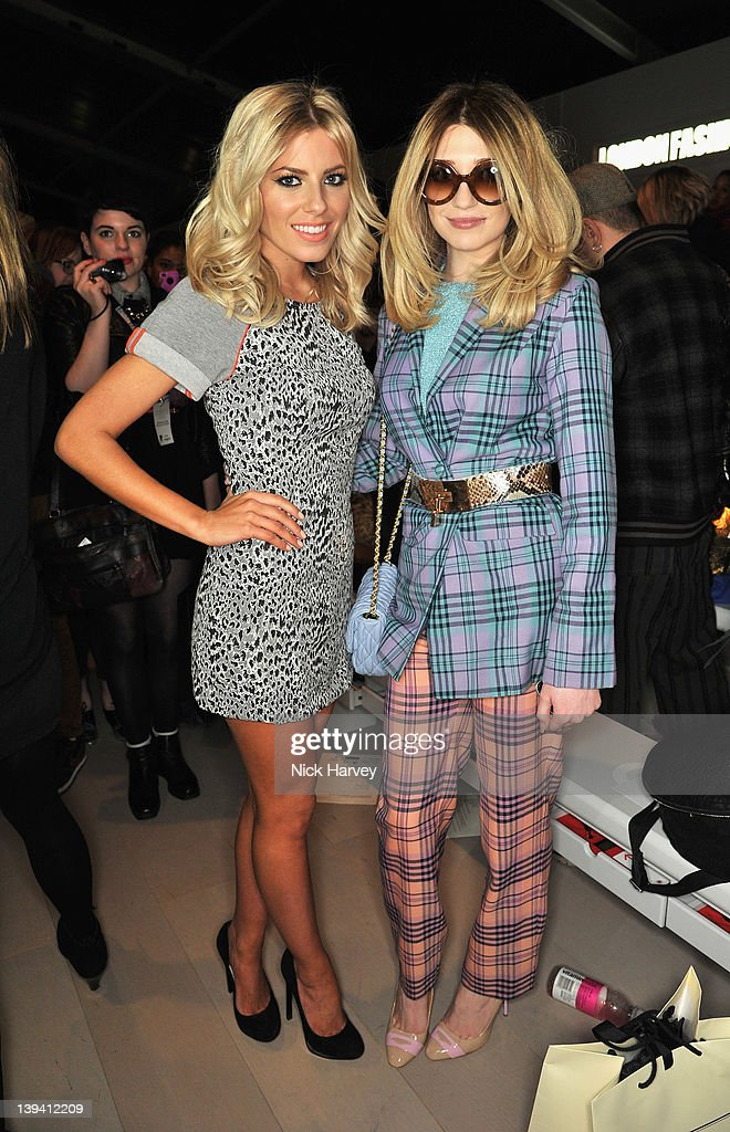 Molly King and Nicola Roberts seen on the front row at the Mark Fast Autumn/Winter 2012 show at London Fashion Week at Somerset House on February 20...