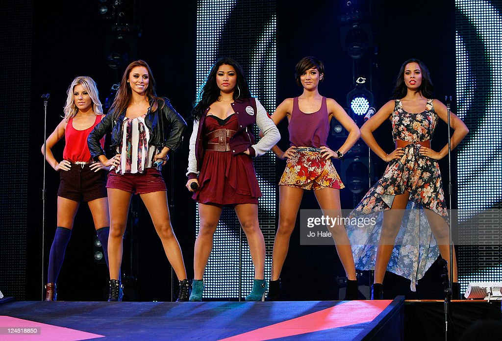 Molly King Una Healy Vanessa White Frankie Sandford Rochelle Wiseman of The Saturday's perform at Sainsbury's Super Saturday at Clapham Common on...