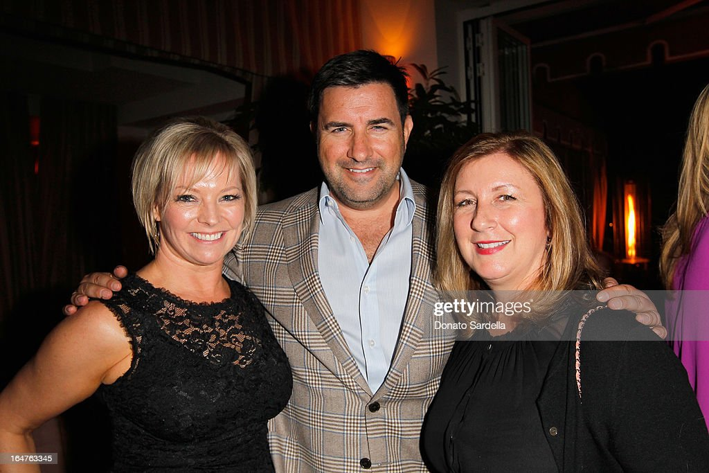 Molly Kuffner, David Phoenix and CEO of F. Schumacher & Co., Terri Eagle celebrate Mary McDonald's exclusive collection for Schumacher And Paterson, Flynn & Martin at Sunset Tower on March 27, 2013 in West Hollywood, California.