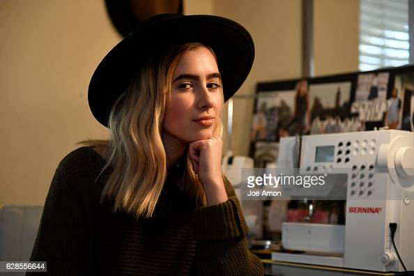 Molly OBrien 17 a senior at Rocky Mountain High School in Fort Collins at her sewing station in her room OBrien operates her fashion line under her...