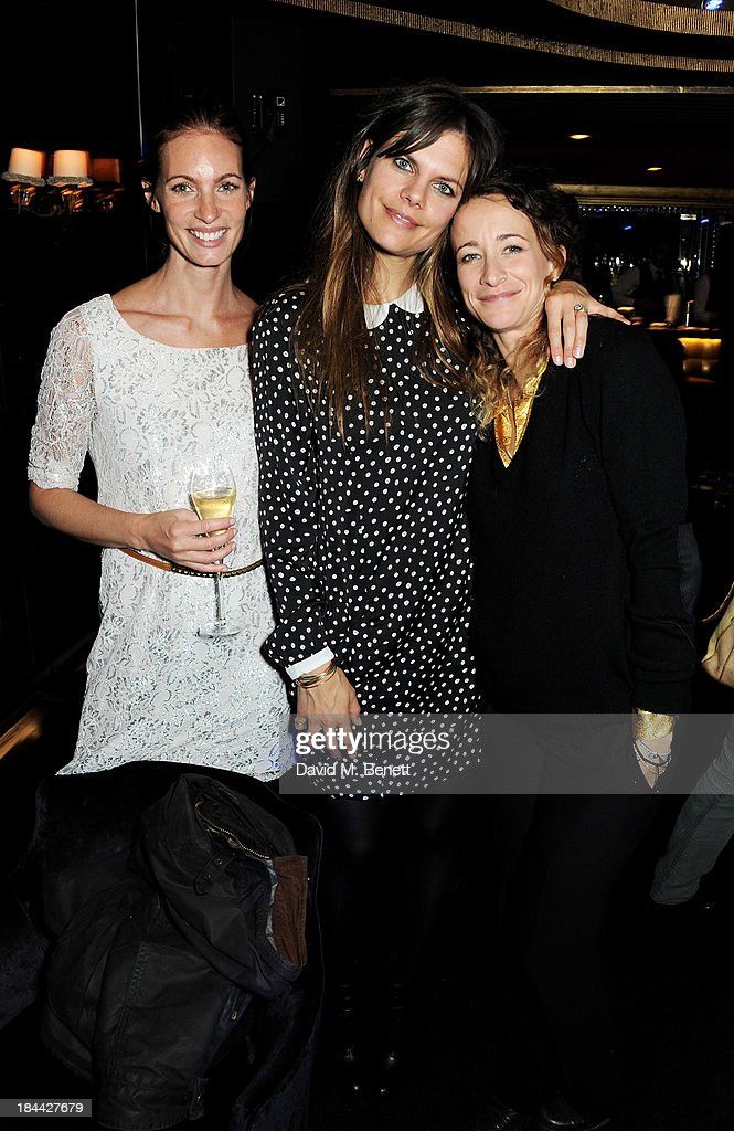 Molly Pepper, Miranda Darling and Leah Wood attend a post-screening party for 'The Last Impresario' during the 57th BFI London Film Festival at The Arts Club on October 13, 2013 in London, England.