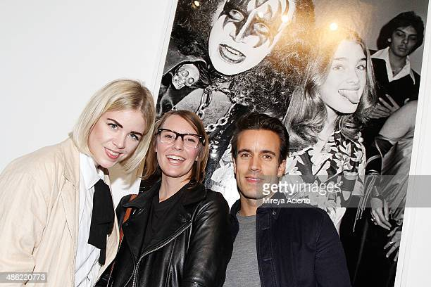 Molly Peters Amy Jordon and Nelson de Sousa attend the opening night of Dog Dance By Brad Elterman at Milk Studios on April 22 2014 in New York City