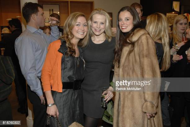 Molly Peters Jessica Kleinknecht and Anna Burke attend JCREW Toasts the Nine MuseWorthy Women Featured in the March Issue at JCrew on February 25...