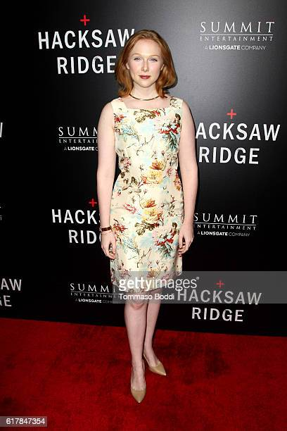 Molly Quinn attends the screening of Summit Entertainment's 'Hacksaw Ridge' at Samuel Goldwyn Theater on October 24 2016 in Beverly Hills California