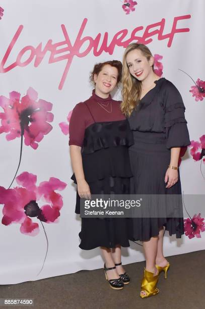 Molly R Stern and Zahava Ryzman attend Molly R Stern X Sarah Chloe Jewelry Collaboration Launch Dinner on December 4 2017 in West Hollywood California