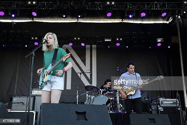 Molly Rankin and Brian Murphy of Alvvays perform on Day 3 of Northside Festival on June 13 2015 in Brooklyn United States