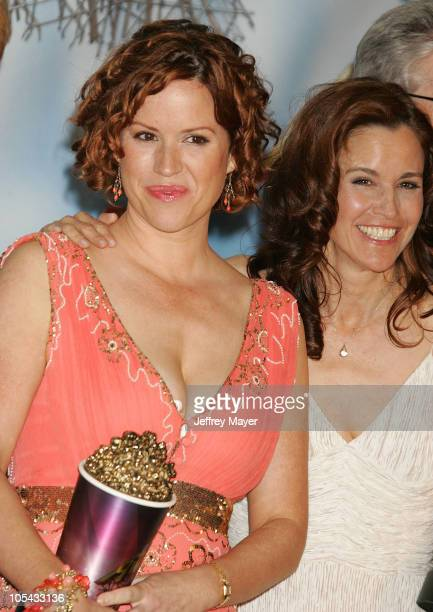 Molly Ringwald and Ally Sheedy during 2005 MTV Movie Awards Press Room at Shrine Auditorium in Los Angeles California United States