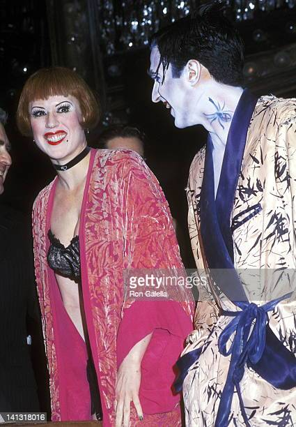 Molly Ringwald and cast member at the Cabaret Celebrates Five Years on Broadway Studio 54 New York City