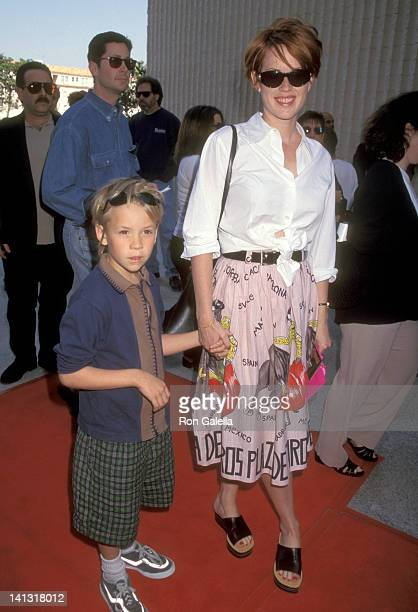 Molly Ringwald and nephew at the Premiere of 'Jungle 2 Jungle' Avco Center Cinema Westwood