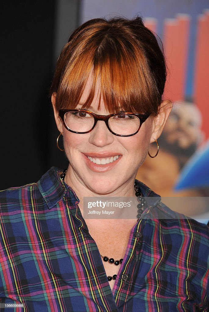 Molly Ringwald arrives at the Los Angeles premiere of 'Wreck-It Ralph' at the El Capitan Theatre on October 29, 2012 in Hollywood, California.