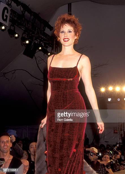 Molly Ringwald at the Fall 1995 Fashion Week Cynthia Rowley Fashion Show Bryant Park New York City