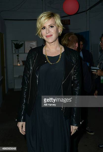 Molly Ringwald attends Marie Claire Celebrates HBO's VEEP With Dinner Hosted By Spotify on March 16 2015 in Austin Texas