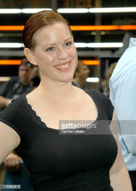 Molly Ringwald during Broadway Stars Perform at 'Broadway on Broadway' in Times Square at Times Square in New York City New York United States