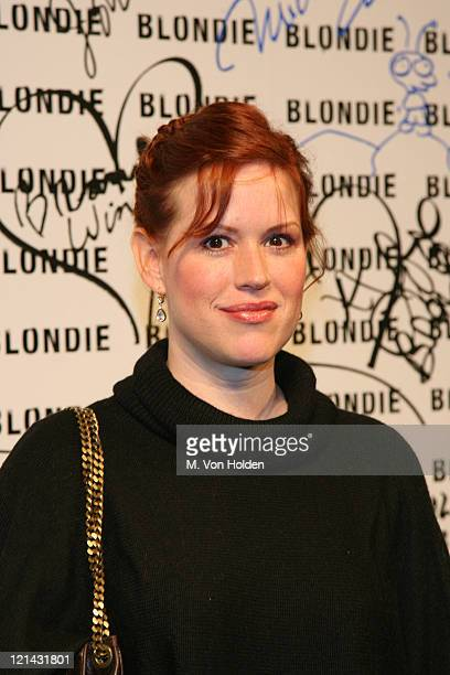 Molly Ringwald during Marc Jacobs Celebrates Debbie Harry's Rock and Roll Hall of Fame Induction at Stephen Weiss Studio in New York New York United...