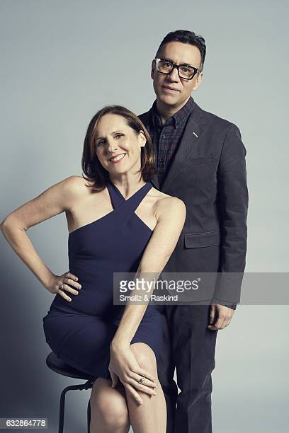 Molly Shannon and Fred Armisen pose for a portrait at the 2017 People's Choice Awards at the Microsoft Theater on January 18 2017 in Los Angeles...