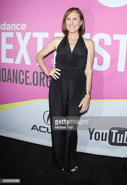 Molly Shannon arrives at the Los Angeles Premiere of 'Life After Beth' held during the 2014 Sundance NextFest at The Theatre at Ace Hotel Downtown LA...