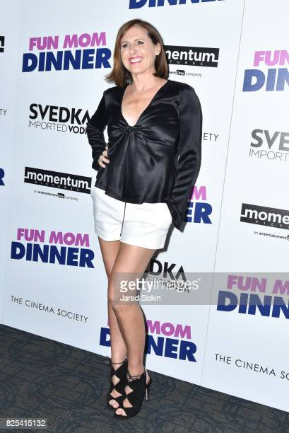 Molly Shannon attends Momentum Pictures with The Cinema Society SVEDKA host a screening of 'Fun Mom Dinner' at the Landmark Sunshine Cinema on August...