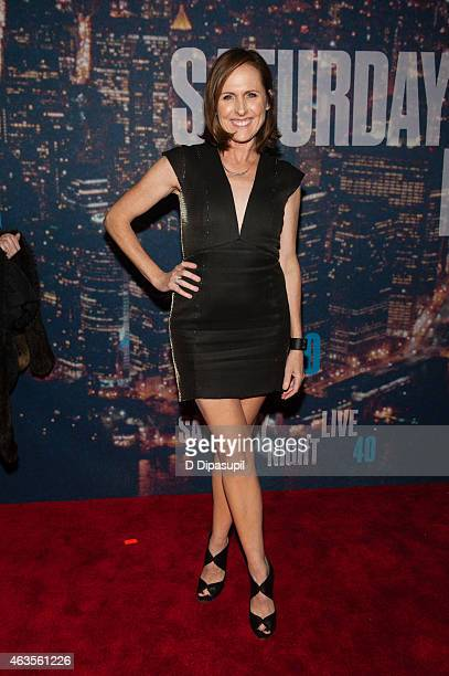 Molly Shannon attends the SNL 40th Anniversary Celebration at Rockefeller Plaza on February 15 2015 in New York City